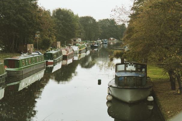 Photograph of the canal boat marina