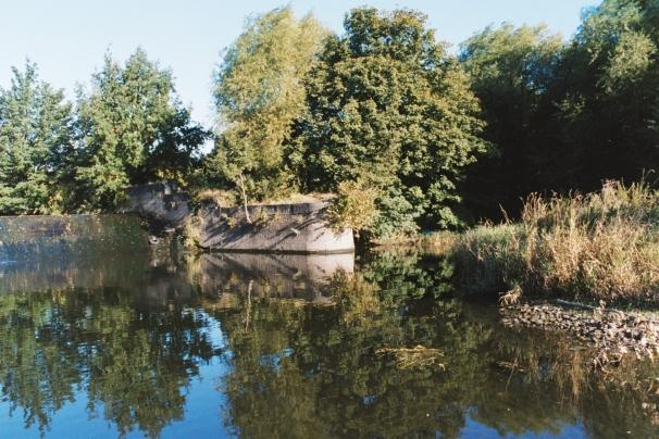 Photograph of the big weir in the Nature Reserve