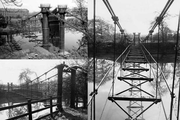 Photographs of Benjamin Gott's suspension bridge